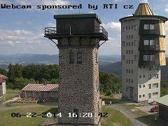 Jak je na vrcholu Čerchova prozradí nová kamera.