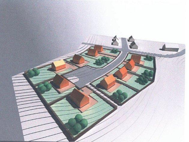 Vizualizace parcel v Černovicích.