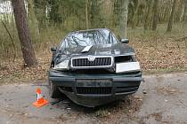 Mladý řidič dostal smyk a naboural do stromu.