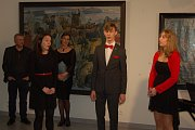 Vernisáž výstavy Toniho Scheubecka v domažlické Galerii bratří Špillarů.