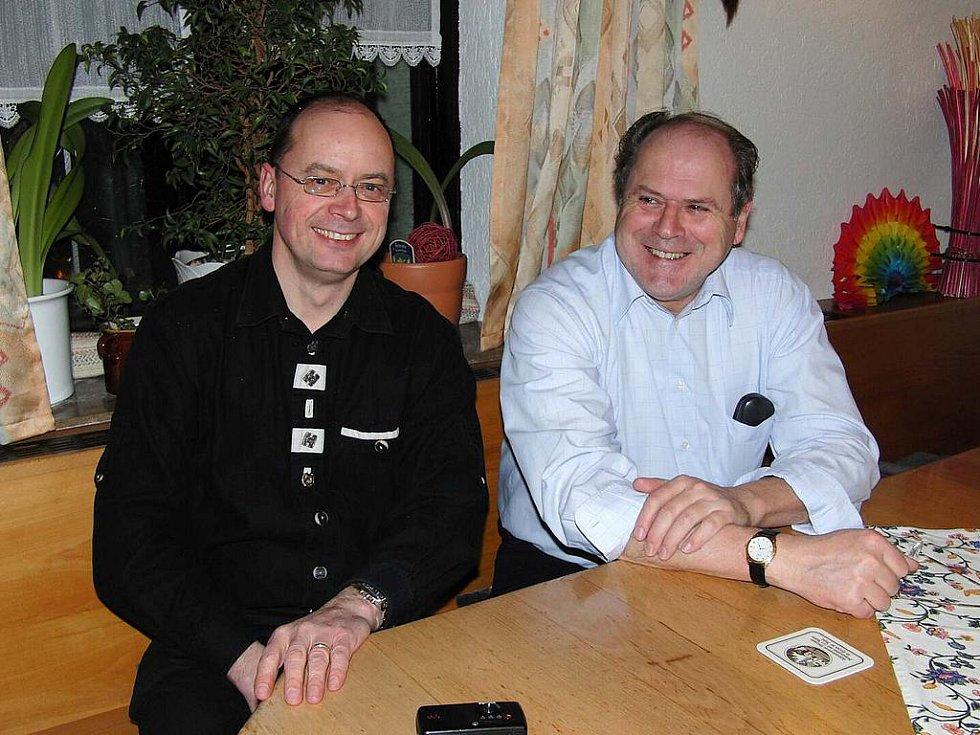 Z výročního jednání Kruhu přátel Furth im Wald - Domažlice. Jedním z místopředsedů spolku je i Vlastimil Konrády z Domažlic (vlevo).