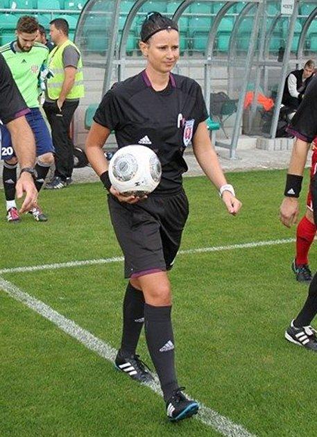 Fotbalová rozhodčí Helena Šálková.