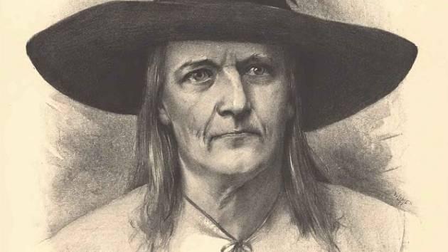 Jan Sladký Kozina na kresbě od Jana Vilímka.