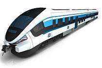 Nové soupravy Link, které budou jezdit na trati Plzeň-Domažlice.