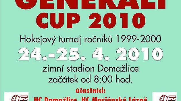Pozvánka na hokejový turnaj mládeže v Domažlicích.