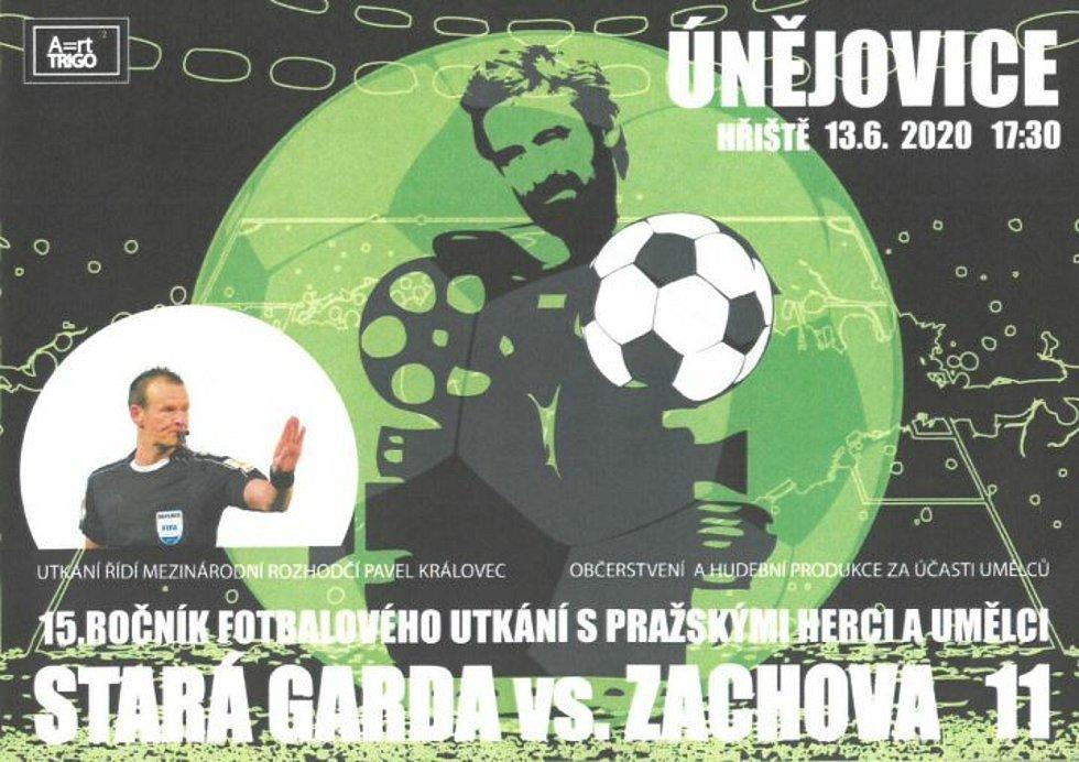 V sobotu se již popatnácté utkají v Únějovicích fotbalisté domácí staré gardy s hereckým týmem Romana Zacha.