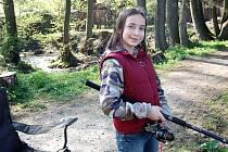 Nejlepším mladým rybářem byla v Poběžovicích 13letá Jana Karbanová.