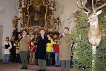 Hubertskou mši pořádá v neděli v arciděkanském kostele v Domažlicích Okresní myslivecké sdružení Domažlice. Foto: OMS Domažlice