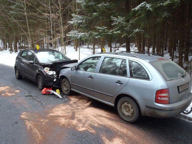 Dopravní nehoda pod Korábem.