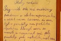 Dopis Josefa Mazance.