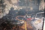 Toto vyfotografovali hasiči bezprostředně po likvidaci plamenů.