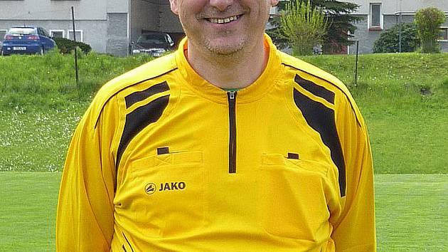 Fotbalový rozhodčí Jiří Hruška.