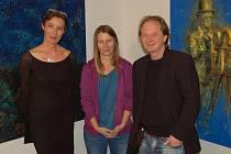 Z vernisáže výstavy obrazů Aleny Anderlové v domažlické Galerii bratří Špillarů.