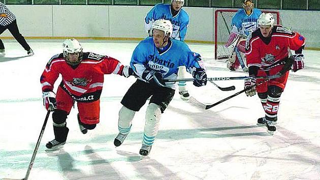 Z utkání hokejistů Buldoci Stříbro a HC Staňkov.