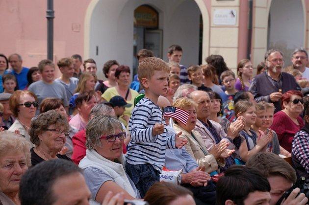 Oslavy 70. výročí osvobození v Domažlicích.