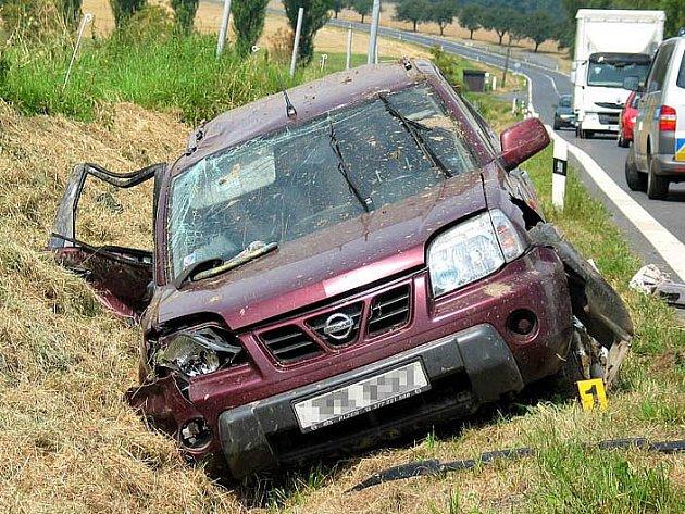 """Dopravní nehoda na """"koutské dálnici""""."""