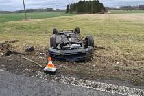 Smyk byl příčinou obou nehod. Nehoda u Horšova.