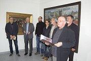 Vernisáž výstavy Konkret v domažlické Galerii bratří Špillarů.