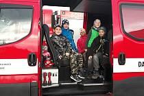 První letošní schůze mladých hasičů z Kolovče.