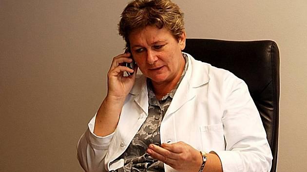 Ředitelka Domažlické nemocnice Alena Vyrutová.