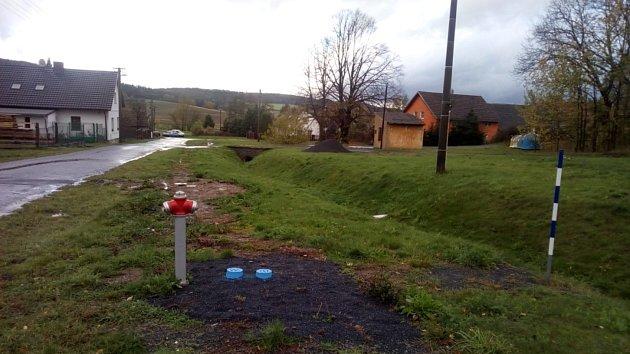 Vodovod vNěmčicích Na Drahách je po rekonstrukci.