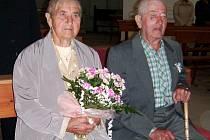 Manželé Radlingerovi z Brůdku oslavili pětašedesát let společného života.