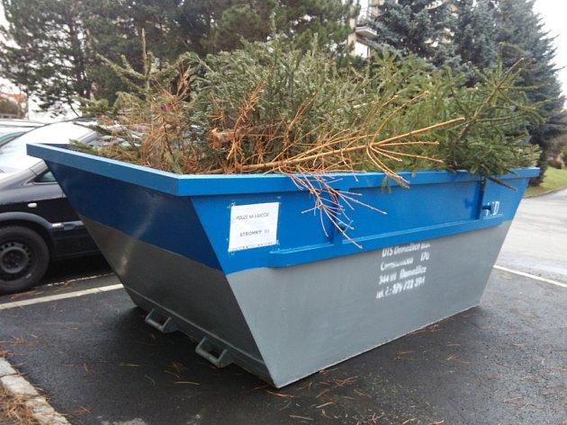 Do kontejnerů lidé mohou odhazovat pouze vánoční stromky.