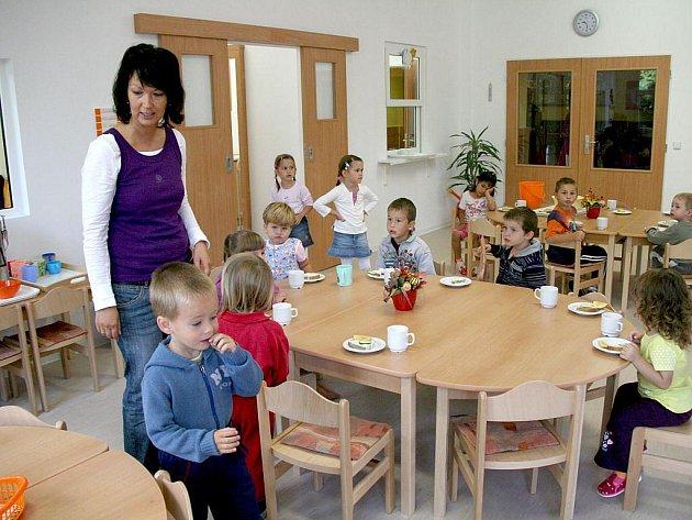 Modulární přístavba mateřské školy ve Staňkově.