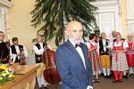 Neformální setkání a přivítání hostů na radnici o Chodských slavnostech.