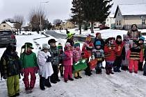 Masopust v Luženicích na Domažlicku v režii zdejší mateřské školy.