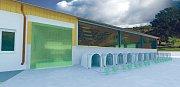Vizualizace nové stáje na Školním statku v Horšově.