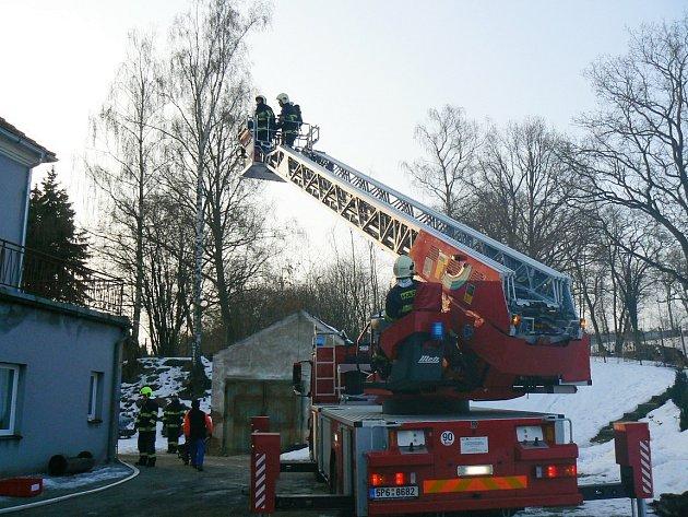 Požár v Bukovci.