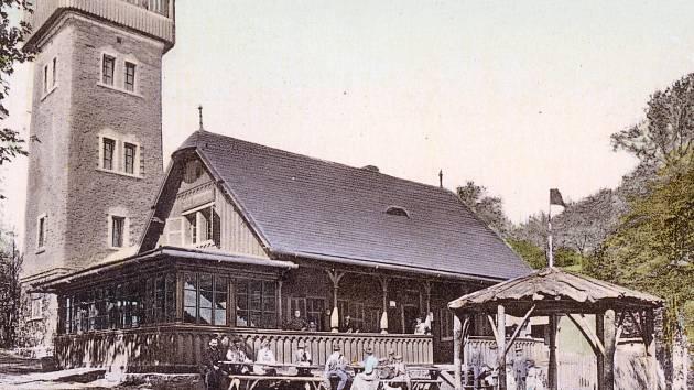 Altán už na Čerchově byl na počátku 20. století.