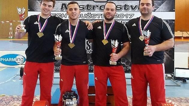 Silový trojboj Staňkov - Vítězné družstvo Staňkova.