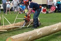 V PECI se bude prodávat na otop také dříví, na kterém ´řádili´ při 8. ročníku soutěže O pohár LST dřevorubci.