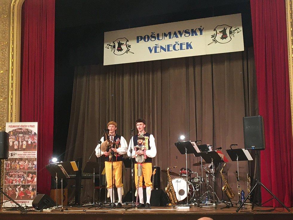 Bratři Hradečtí při vystoupení na Pošumavském věnečku. Foto: archiv P. Hradeckého