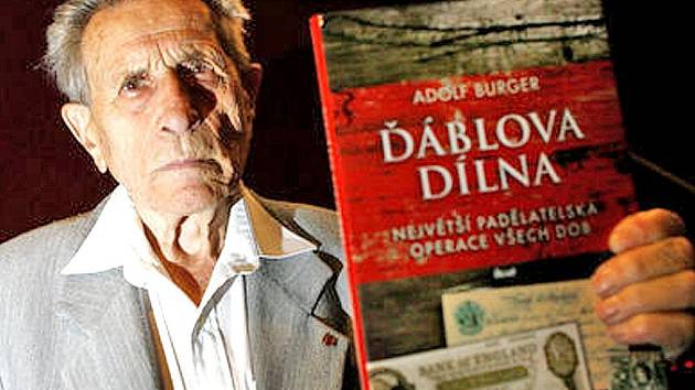 Autor knihy Ďáblova dílna Adolf Burger přijede ve středu na besedu se studenty do Horšovského Týna.