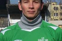 Záložník 1. FC Karlovy Vary Jaroslav Šmrha.