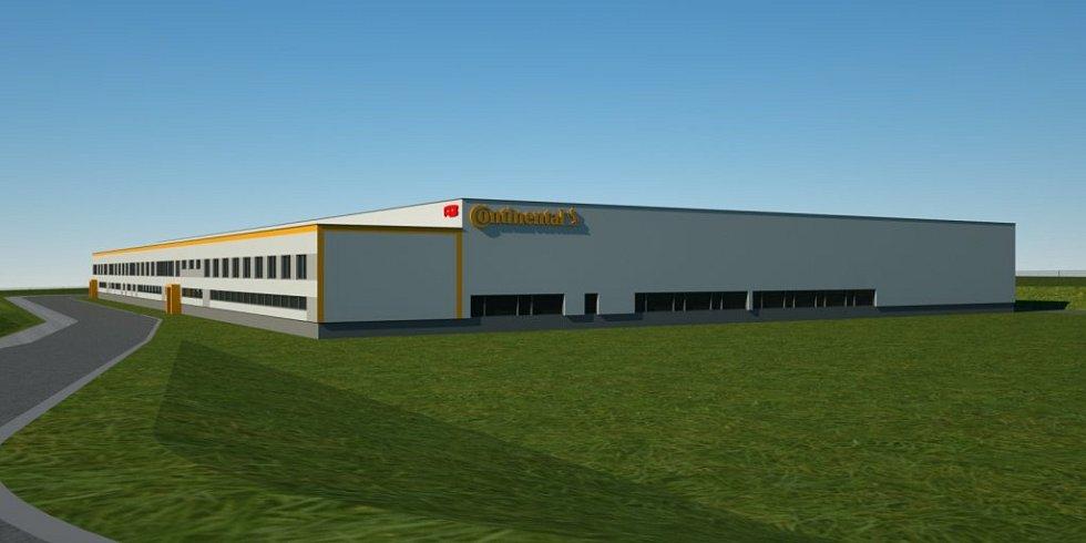 Vizualizace nové výrobní haly, která se v současnosti staví vHoršovskémTýně.Do konce roku se veškerá výroba přesune tam.