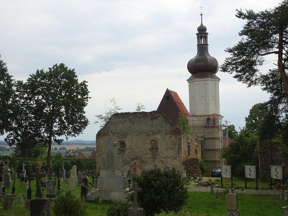 Kostel v Šitboři a aktuální opravy.