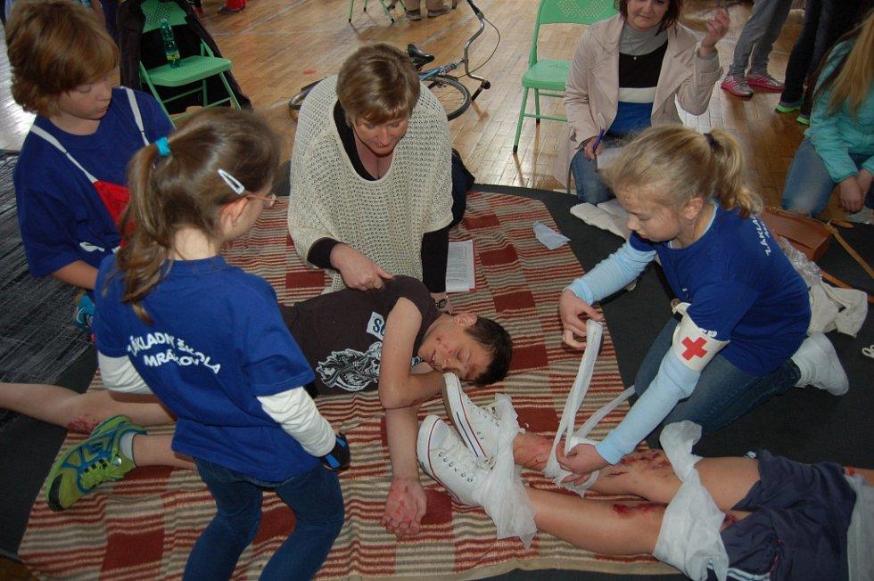 Domažlická soutěž mladých zdravotníků.