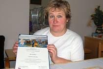 Ilsa Leitlová nám ukázala ocenění - čestné uznámí, které převzala v Praze.