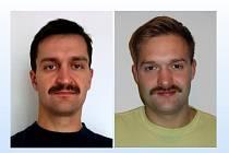 Kapitáni dvou týmů, které se přidaly k Movemberu. Vlevo Jaroslav Hrdlička, vpravo Jakub Baštář.