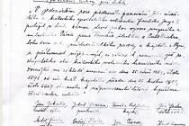 Text z kroniky Domažlické nemocnice.