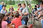 Soutěže a spoustu zábavy si užily děti na nedělním dětském dnu v Únějovicích.