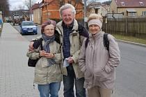 Jana a Jan Frankovi a Vlaďka Kohoutová si Jarní setkání turistů v Kolovči nenechali ujít.