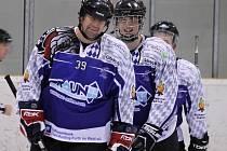 Z šlágru kola Domažlické NHL mezi domažlickými HC Pirates a Ice Barons Waldmünchen.