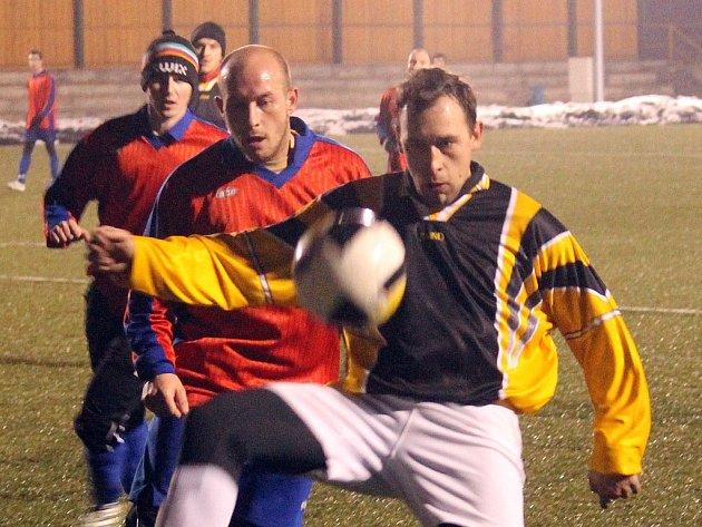 Hříchovický Torres Tomáš Homolka nastoupil za FK Staňkov proti Baníku Kamenný Újezd.