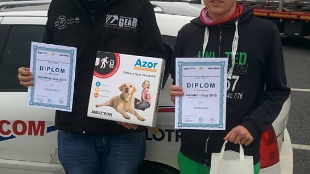 NIKOLAS HAVEL (vlevo) vyhrál soutěž Jablotron cup v České Třebové