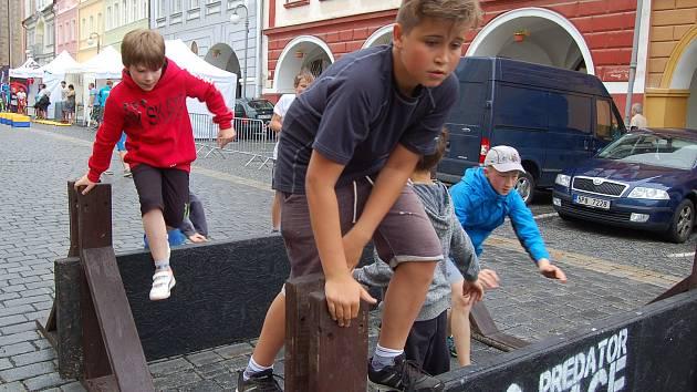 Letní sportmánie 2017 na domažlickém náměstí.